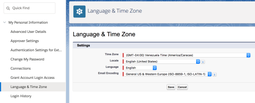 change timezone language locale of user peronsal settings sfdcfanboy salesforce.png