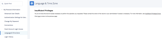 insufficient privileges changee language and timezone personal settings salesforce sfdcfanboy.png