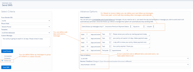 send followup scheduled sms from salesforce sfdcfanboy valuetext